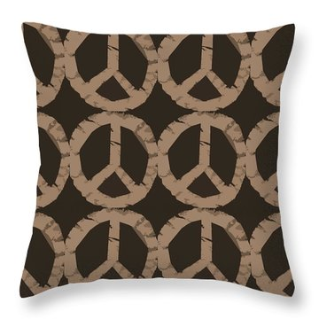 Peace Symbol Collage Throw Pillow by Michelle Calkins