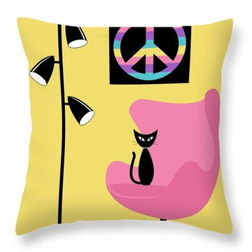 Peace Symbol Throw Pillow