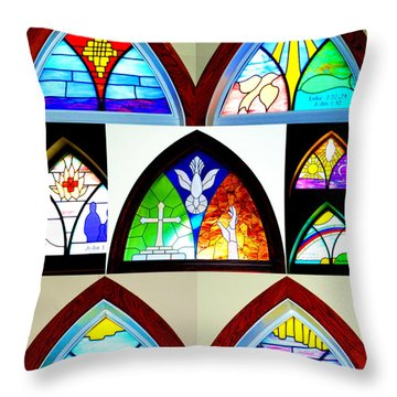 Peace To All Who Enter Here Throw Pillow