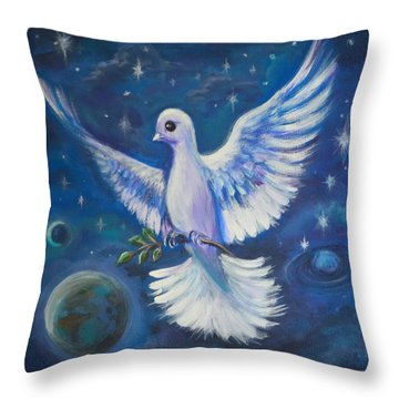 Peace To The World Throw Pillow