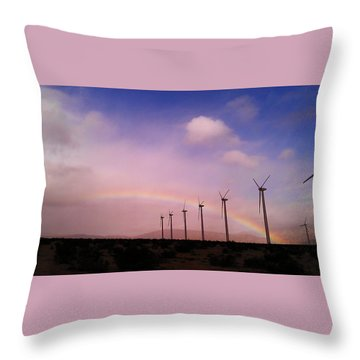 Throw Pillow featuring the photograph Peace Under The Rainbow by Chris Tarpening