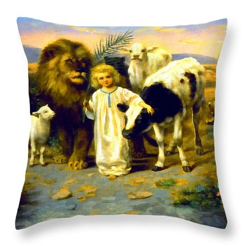 Peace Throw Pillow by William Strutt