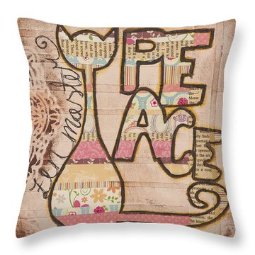 Peace - Zen Master Inspirational Art Throw Pillow