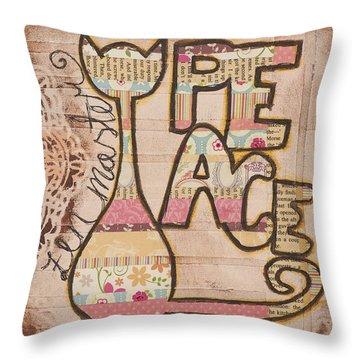 Peace - Zen Master Inspirational Art Throw Pillow