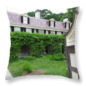Peacefield The Old House Throw Pillow by Barbara McDevitt