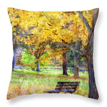 Peaceful Autumn Throw Pillow by Darren Fisher
