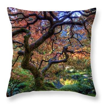 Peaceful Autumn Morning Throw Pillow