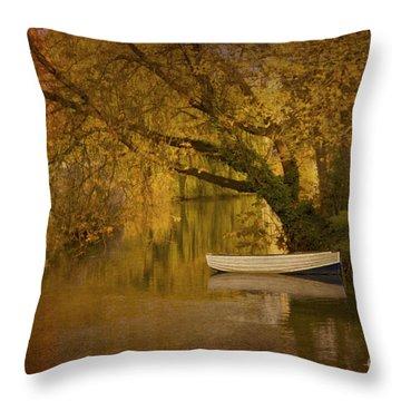 Peaceful Backwater Throw Pillow