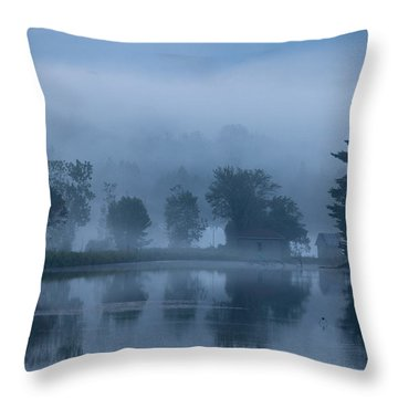 Peaceful Blue Throw Pillow by Karol Livote
