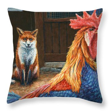 Peaceful Coexistence Throw Pillow by James W Johnson