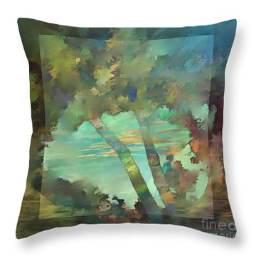 Throw Pillow featuring the digital art Peaceful Dawn by Ursula Freer