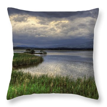 Peaceful Evening At The Lake Throw Pillow
