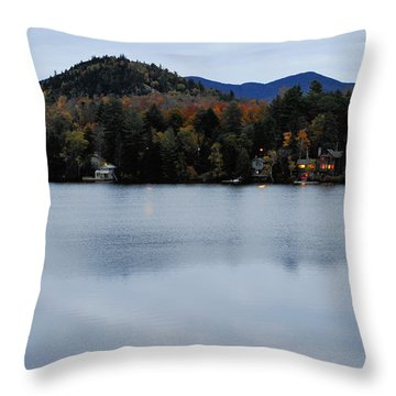Peaceful Evening At The Lake Throw Pillow by Terry DeLuco