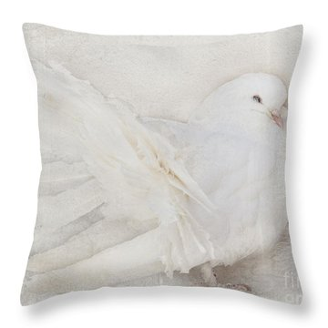 Peaceful Existence White On White Throw Pillow