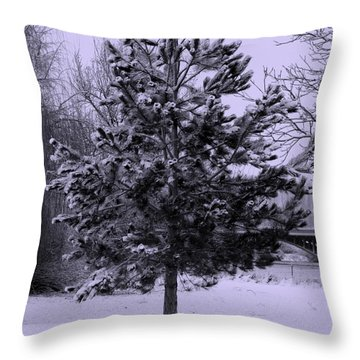 Peaceful Holidays Throw Pillow by Carol Groenen