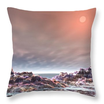 Throw Pillow featuring the digital art Peaceful by Jacqueline Lloyd