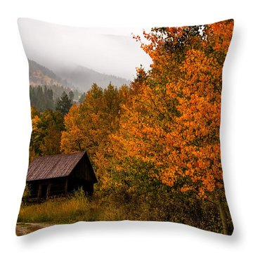 Throw Pillow featuring the photograph Peaceful by Ken Smith