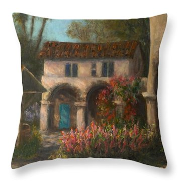 Peaceful Landscape Paintings Throw Pillow