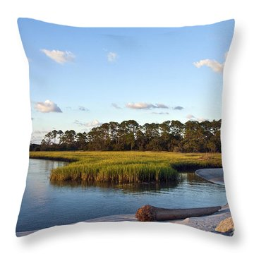 Peaceful Marsh Throw Pillow