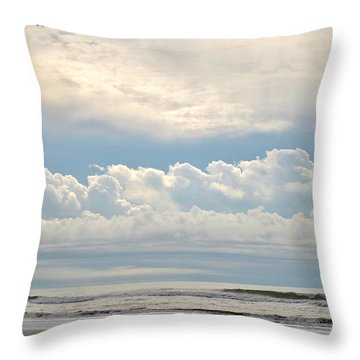 Peaceful Morning Throw Pillow by Kelly Nowak
