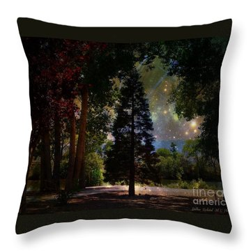 Magical Night At The River Throw Pillow