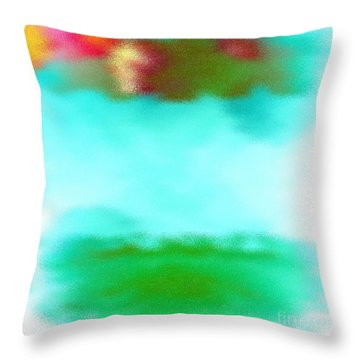 Throw Pillow featuring the digital art Peaceful Noise by Anita Lewis
