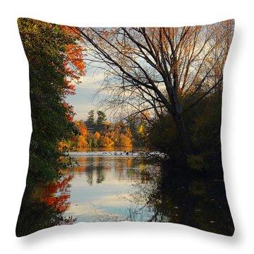Peaceful October Afternoon Throw Pillow
