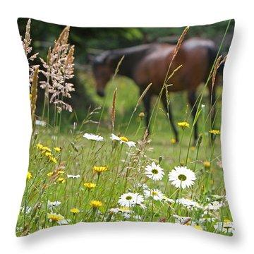Peaceful Pasture Throw Pillow