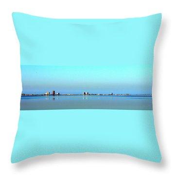 Peaceful Pensacola Beach Throw Pillow