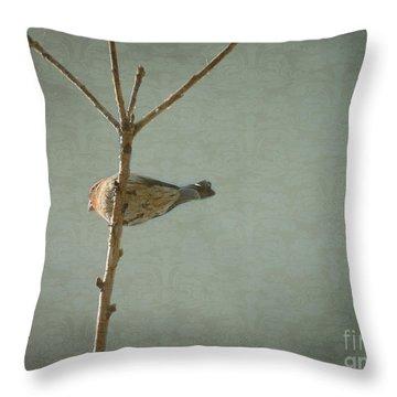 Peaceful Perch Throw Pillow
