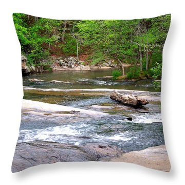 Throw Pillow featuring the photograph Peaceful by Pete Trenholm