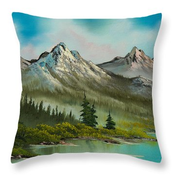 Peaceful Pines Throw Pillow by C Steele