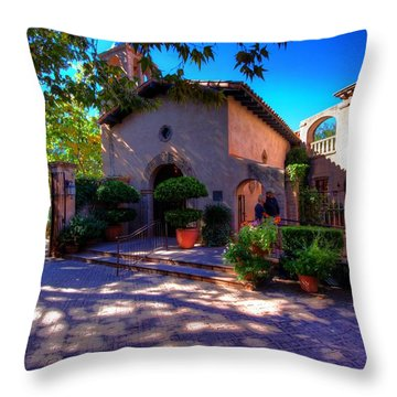 Throw Pillow featuring the photograph Peaceful Plaza by Dave Files