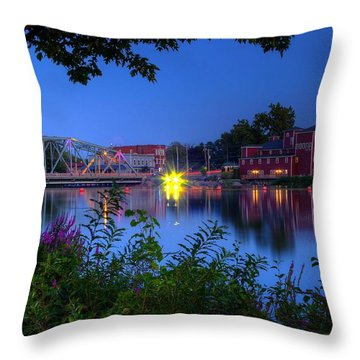 Throw Pillow featuring the photograph Peaceful River by Dave Files