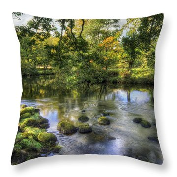 Peaceful River Throw Pillow by Ian Mitchell