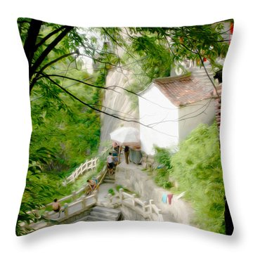 Peaceful Spot In China Throw Pillow