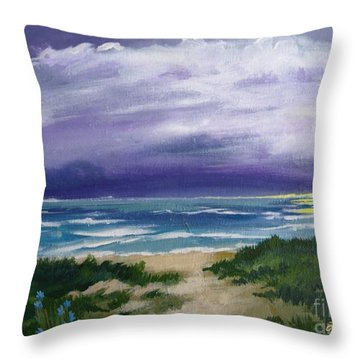 Peaceful Sunrise Throw Pillow by J Linder