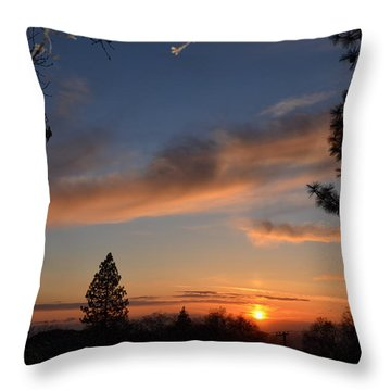 Peaceful Sunset Throw Pillow by Tom Mansfield