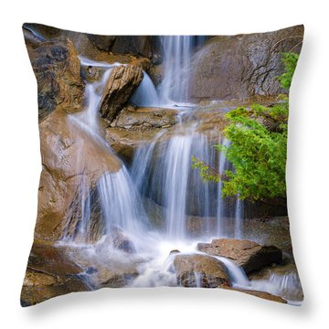 Throw Pillow featuring the photograph Peaceful Waterfall by Jordan Blackstone