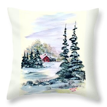 Peaceful Winter Throw Pillow