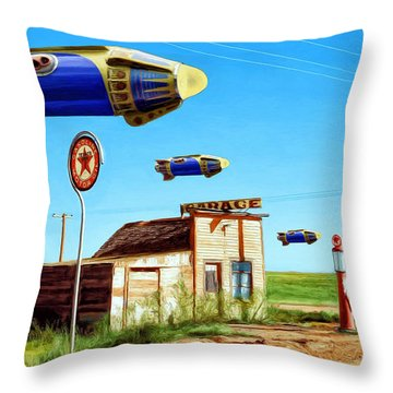Peacekeepers Throw Pillow by Dominic Piperata