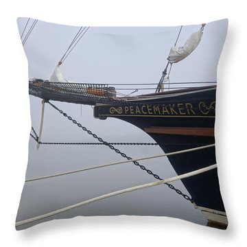 Throw Pillow featuring the photograph Peacemaker by Julia Wilcox