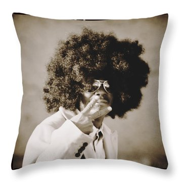 Throw Pillow featuring the photograph Peaceman by Alice Gipson