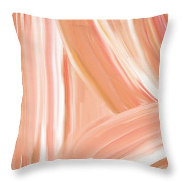 Peach Accent Throw Pillow by Lourry Legarde