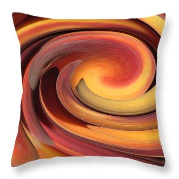Peach Fuzz Throw Pillow