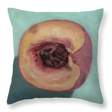 Peach Half Throw Pillow