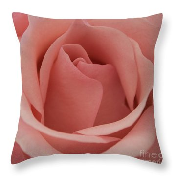 Peach Rose Throw Pillow by Arlene Carmel