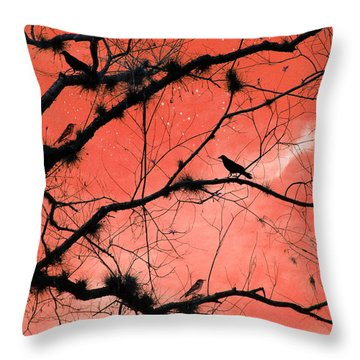 Peach Sky Throw Pillow