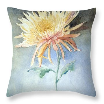 Peach Spider Emerging Throw Pillow