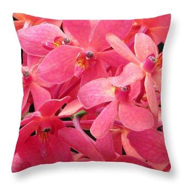 Peaches And Cream Throw Pillow by Debi Singer